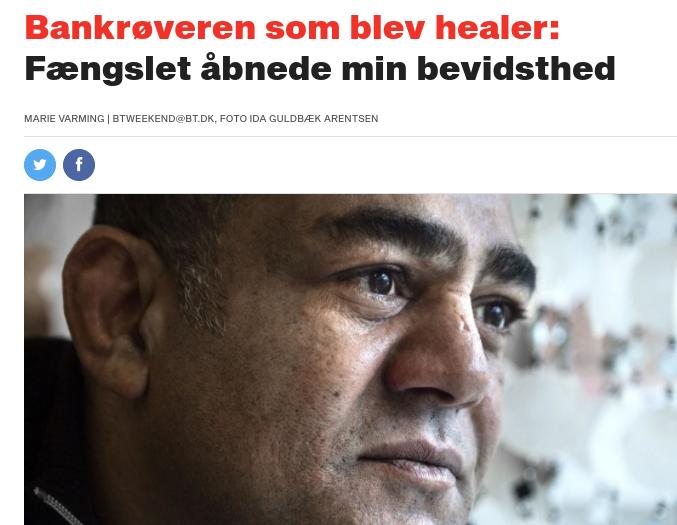 Bankrøveren som blev healer